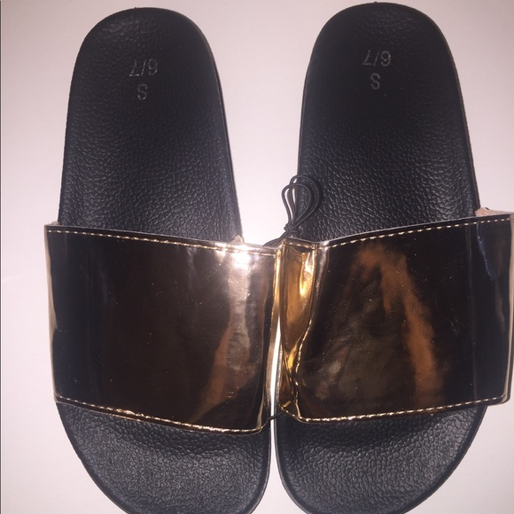 Orly Rosegold Metallic Sliders